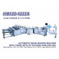 HM100-1222A Nonwoven disposable fully automated ear-loop making machine